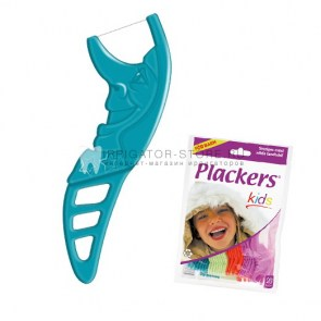Флоссер Plackers Kids купить